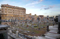 Trajan Forum - landmark attraction in Rome, Italy Royalty Free Stock Image