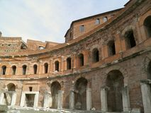 Trajan's forum and market in Rome Royalty Free Stock Photos