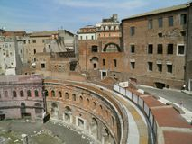 Trajan's forum and market in Rome Royalty Free Stock Photography