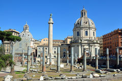 Trajan`s Forum Royalty Free Stock Photos