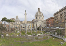 Trajan's Forum in Rome, Italy Royalty Free Stock Image