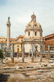 Trajan´s Forum. Ruins Trajan´s Forum in The Ancient Part of Roma Royalty Free Stock Photos