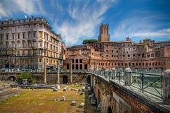 Trajan's Forum. Ruins of Trajan's Forum in Rome, Italy Stock Photography