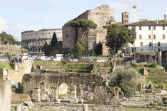 Trajan's forum Stock Photos