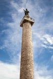 Trajan& x27; s kolom in Rome - Italië Royalty-vrije Stock Afbeeldingen