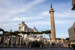 Trajan ` s kolumna Roma Obraz Royalty Free