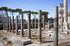 The Trajan's Market with ancient columns, Rome, Italy Royalty Free Stock Images