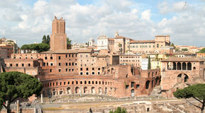 Trajan's market and Fori Imperiali Royalty Free Stock Image