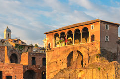 Trajan's market and forum detail, Rome Stock Image
