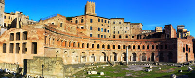 Trajan's Market in Imperial Fora - Rome Royalty Free Stock Images