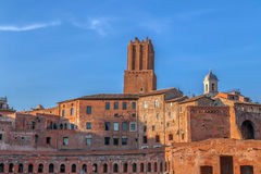 Trajan& x27;s Market & x28;Mercati di Traiano& x29;, Rome, Italy. Trajan& x27;s Market & x28;Mercati di Traiano& x29;. One large complex of ruins in the city of Royalty Free Stock Photography