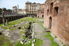 Trajan's Market (Mercati Traianei) in Rome, Italy Royalty Free Stock Image