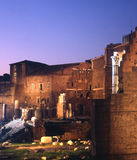 Trajans Market at night Royalty Free Stock Photo