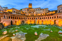 Trajan& x27;s Market, night view stock image