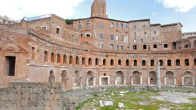 Trajan's market, Roma, Italy stock video
