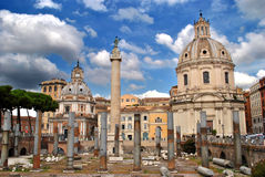 Trajan`s Market in Rome Royalty Free Stock Image