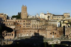 Trajan's Market in Rome, Italy Royalty Free Stock Photography