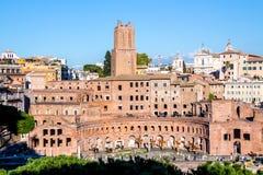 Trajan`s Market in Rome, Italy Stock Image