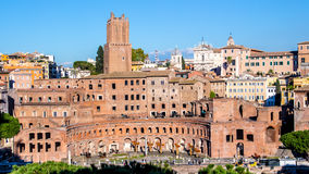 Trajan`s Market in Rome, Italy Stock Images