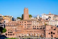 Trajan`s Market in Rome, Italy Stock Photo