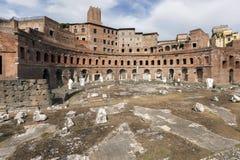 Trajan's Market in Rome, Italy Royalty Free Stock Image