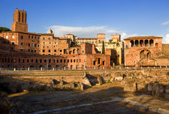 Trajan's Market in Rome. Italy. Stock Photo