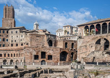 Trajan's Market in Rome. Royalty Free Stock Photo