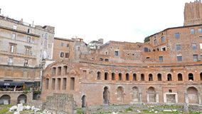 Trajan's market, Trajan Forum, Roma, Italy. Video stock video