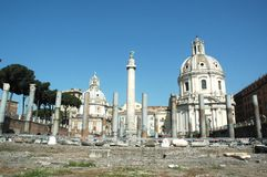 Trajan's Markets. The ruins of the world famous Trajan's Markets Rome Italy stock photo