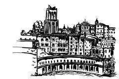 Trajan-` s Markt Mercati Traianei rom Italien lizenzfreie abbildung