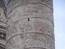 Trajan-` s Spalte, Rom, Italien lizenzfreie stockfotos