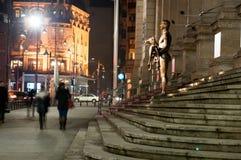 Trajan statue by night Royalty Free Stock Photos