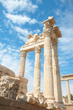 Trajan temple in Pergamon Turkey Royalty Free Stock Image