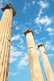 Trajan temple in Pergamon Turkey Royalty Free Stock Photo