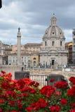 Trajane Roma Italia di Colonne immagini stock libere da diritti
