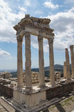 Trajaneum of the acropolis Stock Image