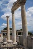 Trajaneum of the acropolis Stock Photo
