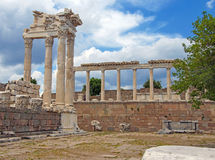 Trajaneum of the acropolis Stock Photography