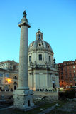Trajans专栏,罗马,意大利 图库摄影