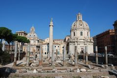 Trajans forum Royalty Free Stock Photos