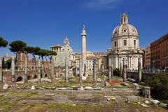 Trajans forum i Rome Royaltyfri Foto
