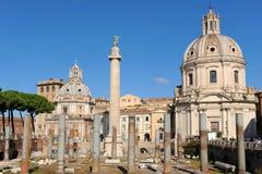 Trajans Forum, Rom Lizenzfreies Stockfoto