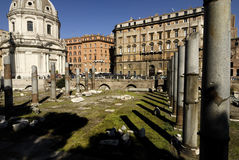 Trajans Forum, Rom, Italien Lizenzfreie Stockbilder