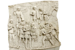 Trajans kolonndetalj Arkivfoton