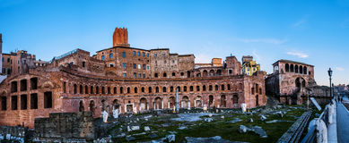 Trajans Market Mercati di Traiano在罗马,意大利 图库摄影