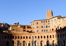 Trajans Market in Rome Stock Photo