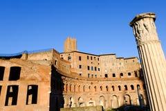 Trajans Market in Rome Stock Image