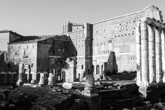 Trajans Market in Rome Royalty Free Stock Photo