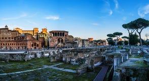 Trajans Market (Mercati di Traiano) in Rome, Italy Royalty Free Stock Photography