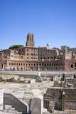 Trajans marknad, forntida romersk arkitektur Royaltyfria Bilder